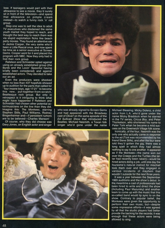 Monkees TV show article