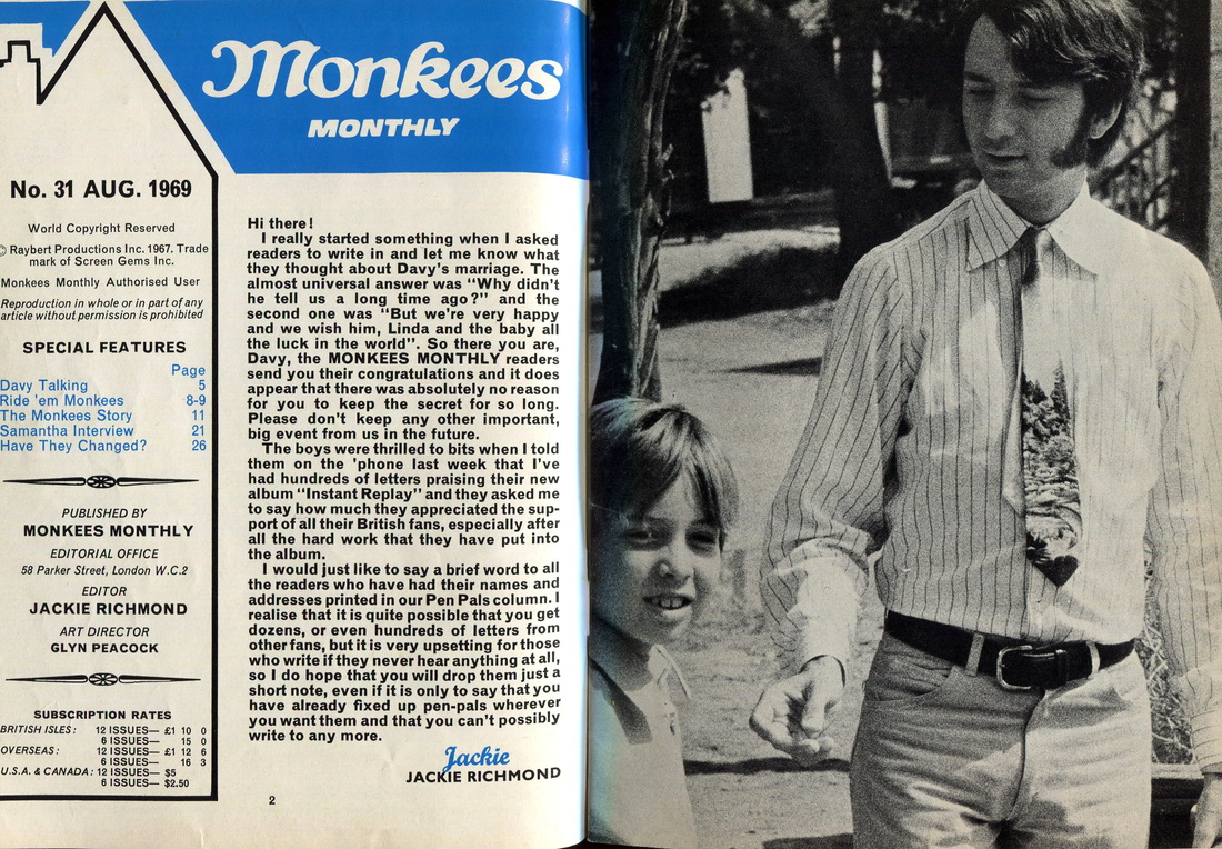 Monkees Monthly 1969