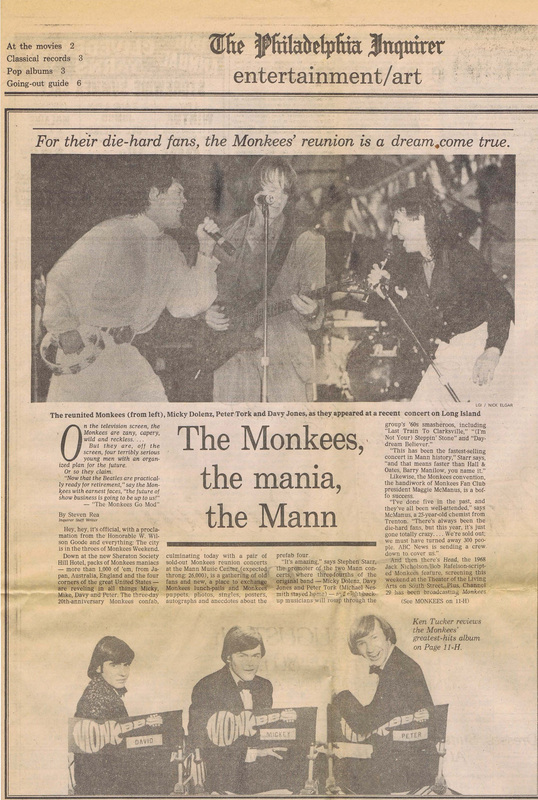 Monkees Mann Philadelphia 1986