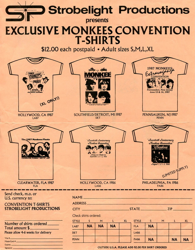 Monkees convention t shirt