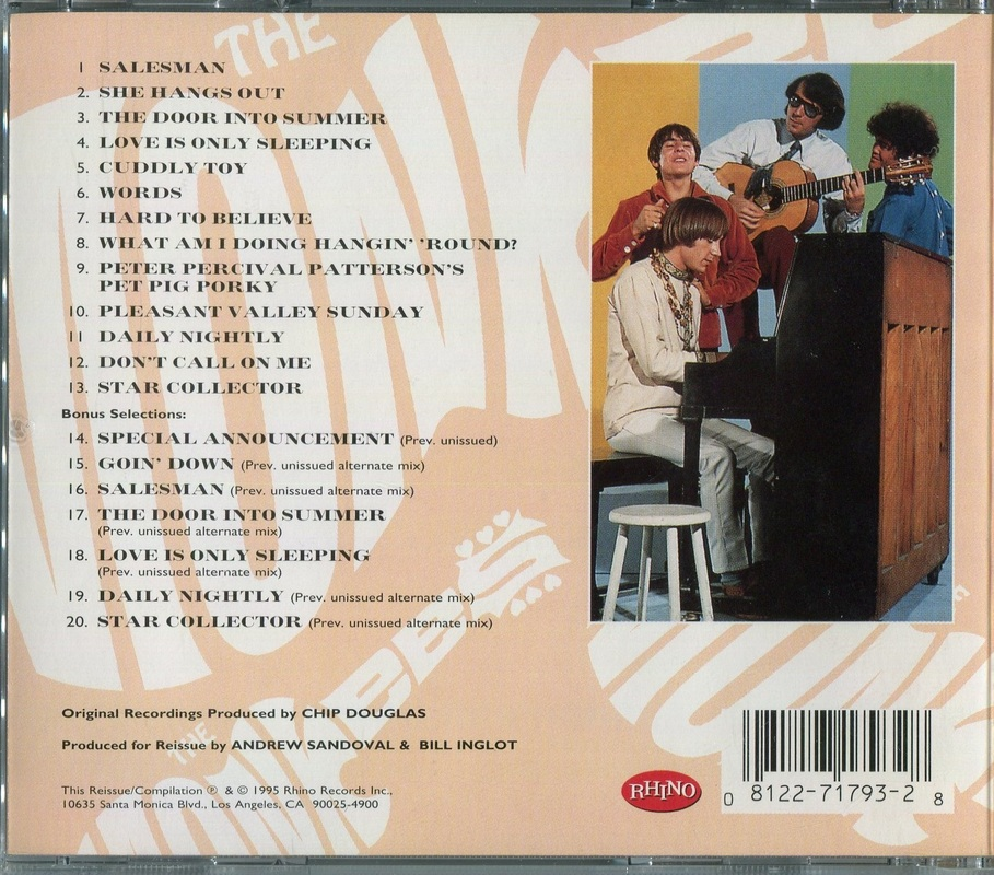 Monkees Pisces CD back cover