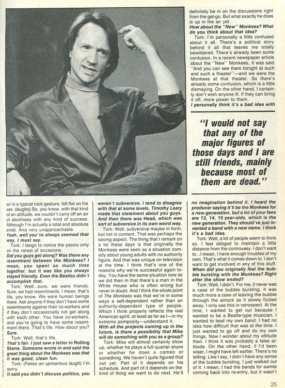 Monkees Peter interview