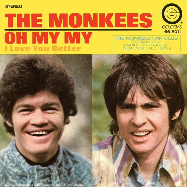 Monkees Oh My My picture sleeve