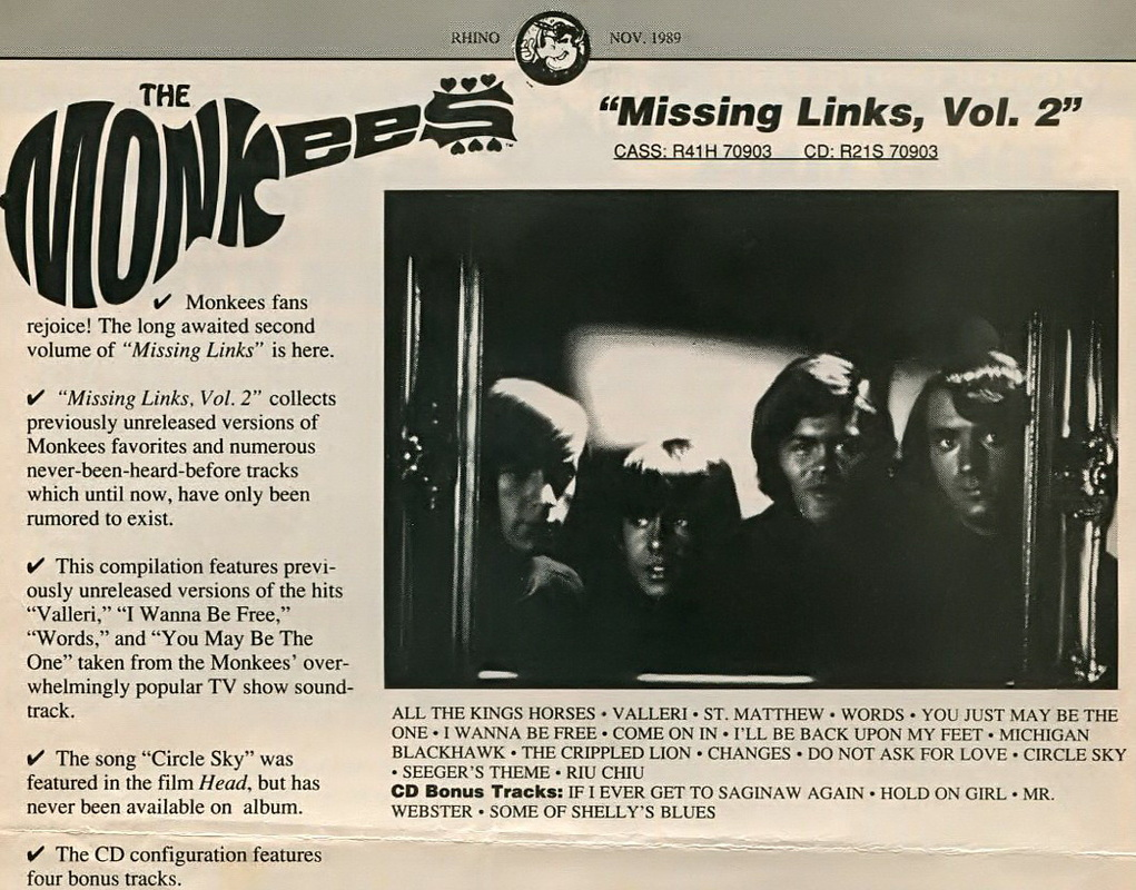 Monkees Missing Links Volume 2