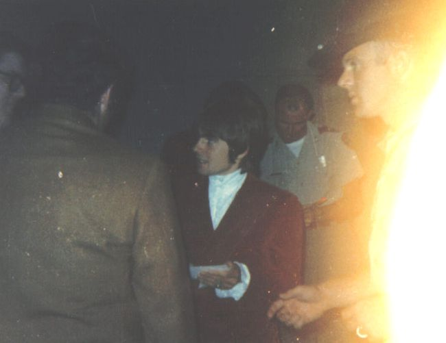 Davy Jones backstage