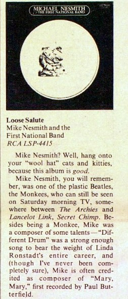 Loose Salute Rolling Stone review Nesmith