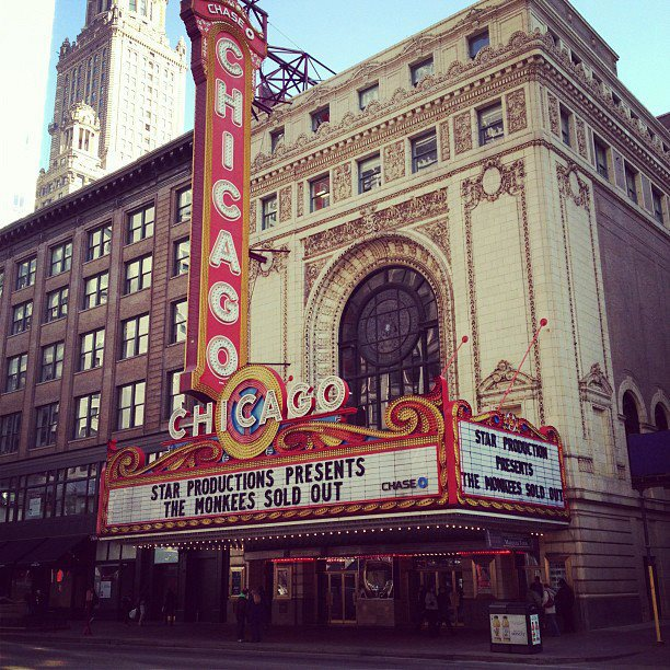 Monkees 2012 Chicago marquee