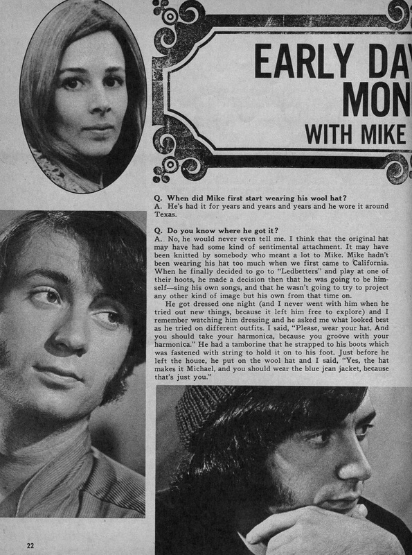 Mike Nesmith wool hat history