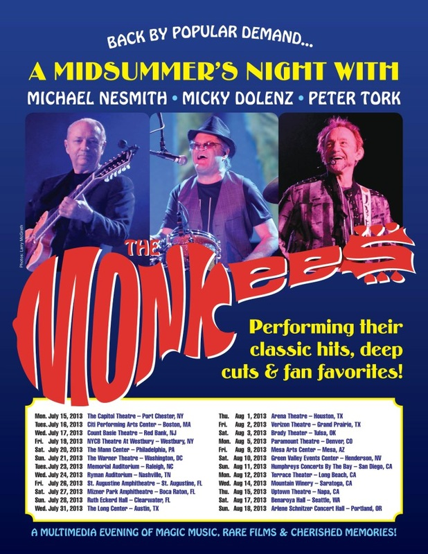 Monkees 2013 tour poster