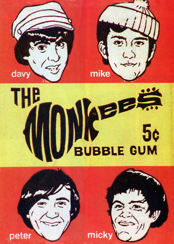 Monkees bubble gum wrapper