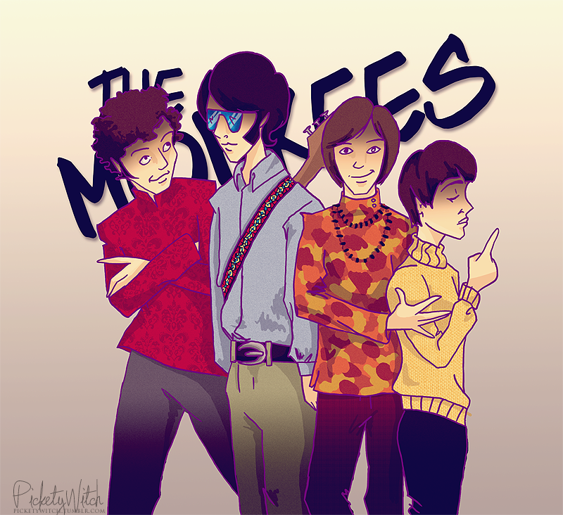 Monkees illustration artwork drawing