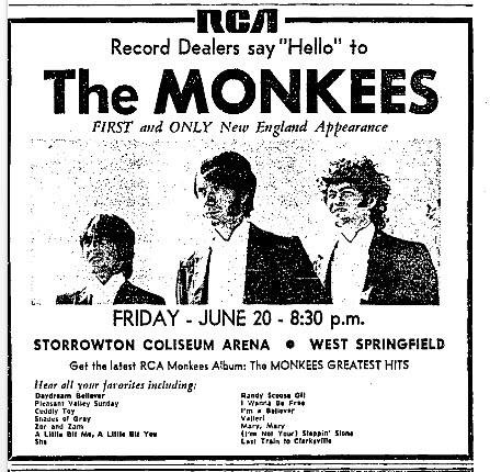 Monkees 1969 Massachusetts