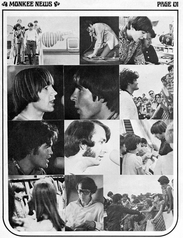 Monkees 1967 tour pictures