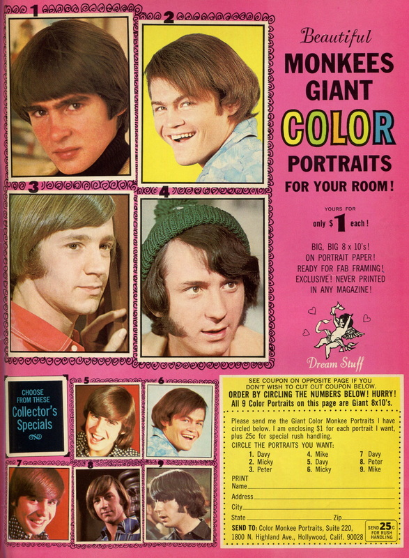 Monkees color portraits ad