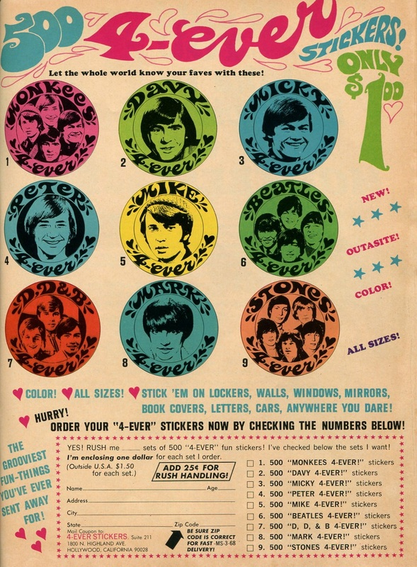 Monkees stickers
