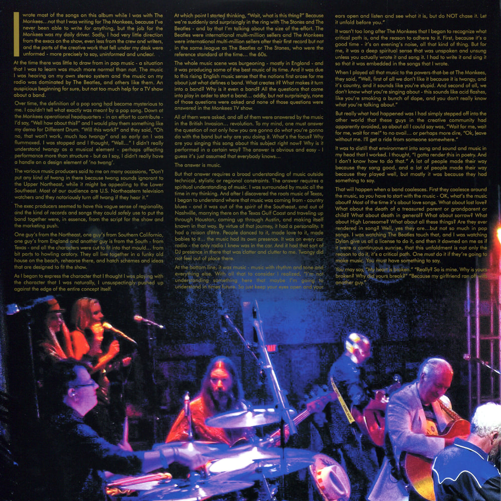 Nesmith Live at the Troubadour album liner notes