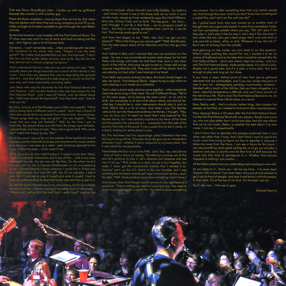 First National Band Live at Troubadour liner notes