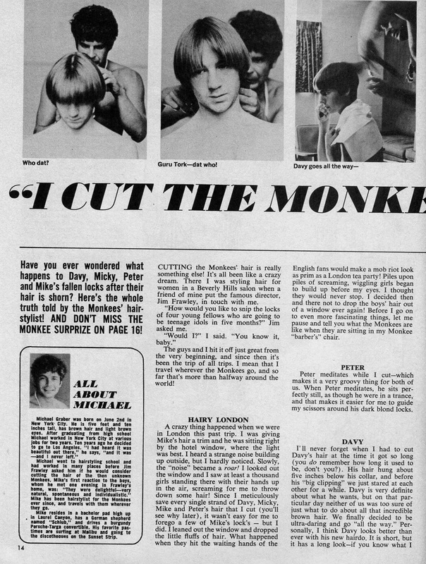 Monkees hairdresser