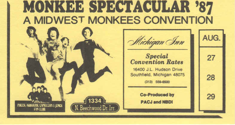 Monkee Spectacular 87 Midwest Monkees convention Michigan