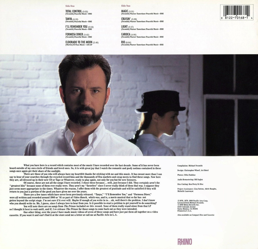 Michael Nesmith Newer Stuff back cover
