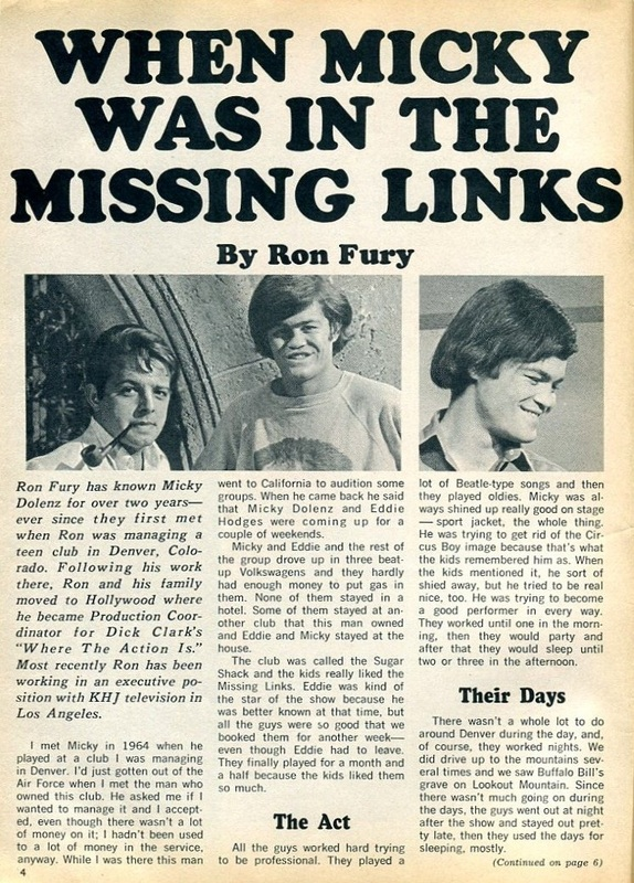 Micky Dolenz Missing Links