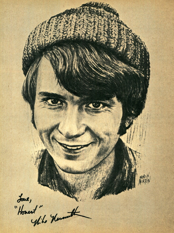 Mike Nesmith sketch drawing artwork