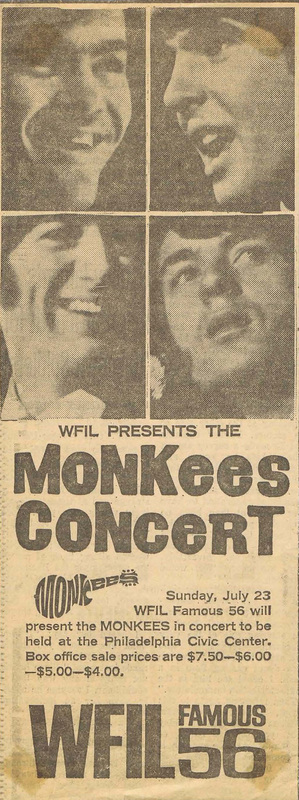 Monkees live Philadelphia 1967