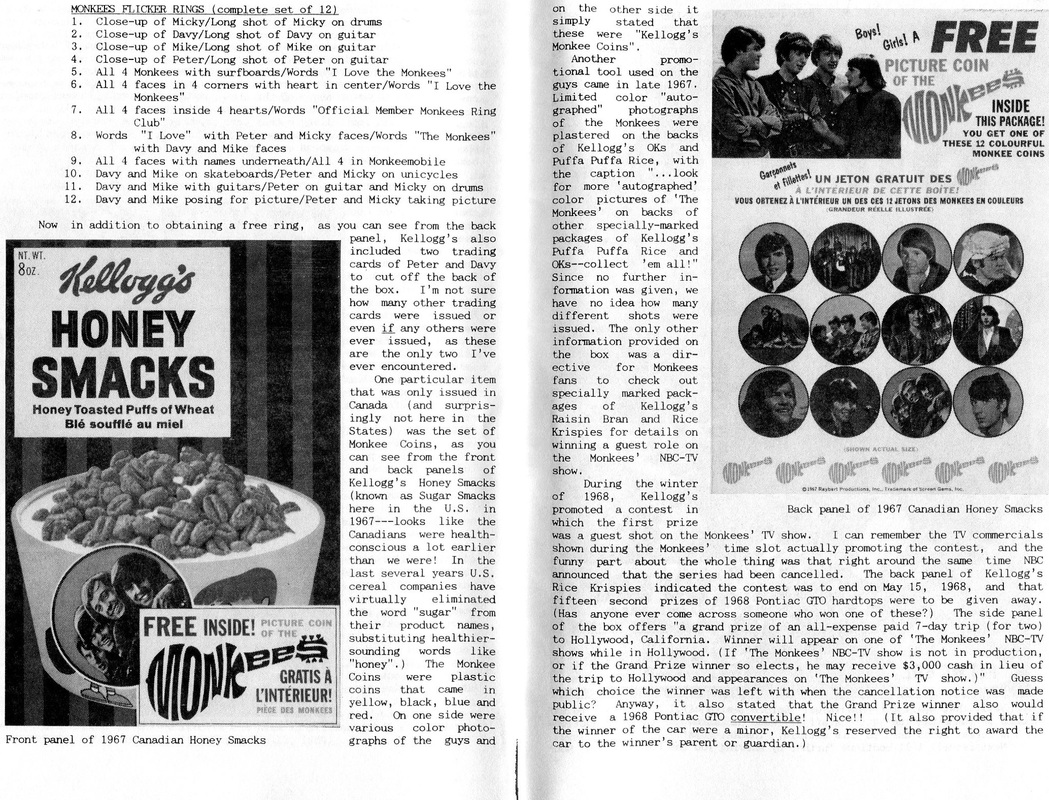 Monkees Honey Smacks
