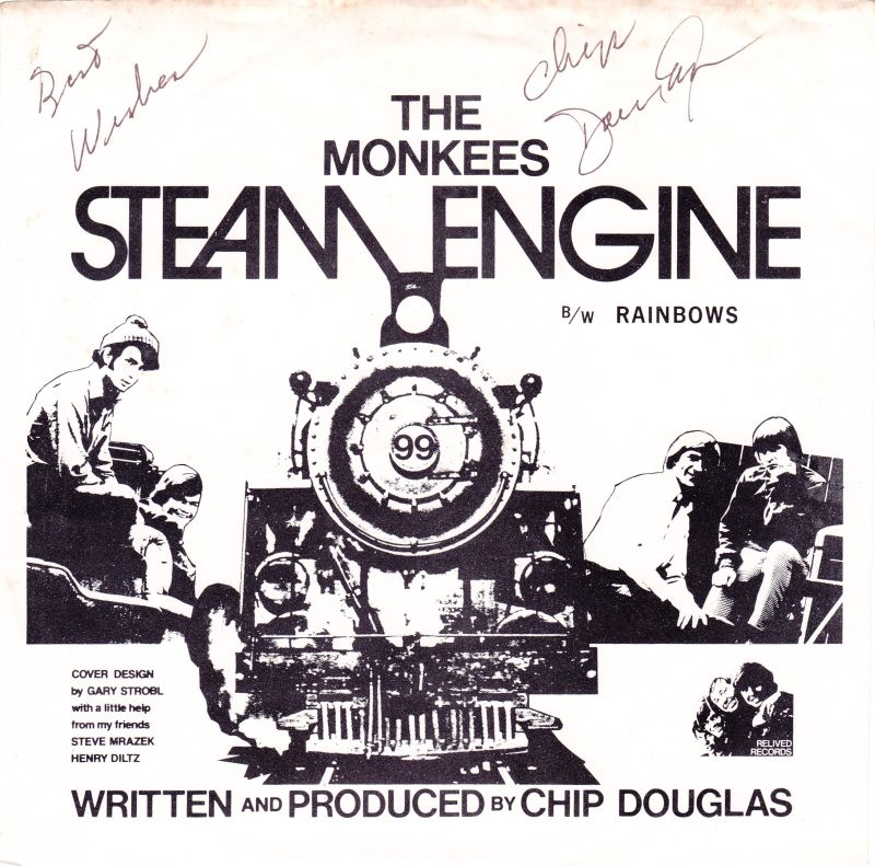 Monkees Steam Engine single picture sleeve