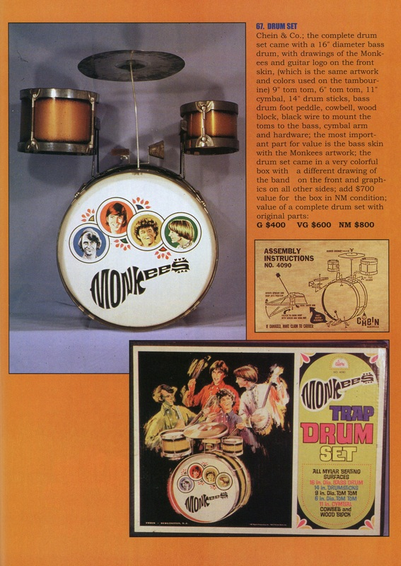 Monkees toy drum set