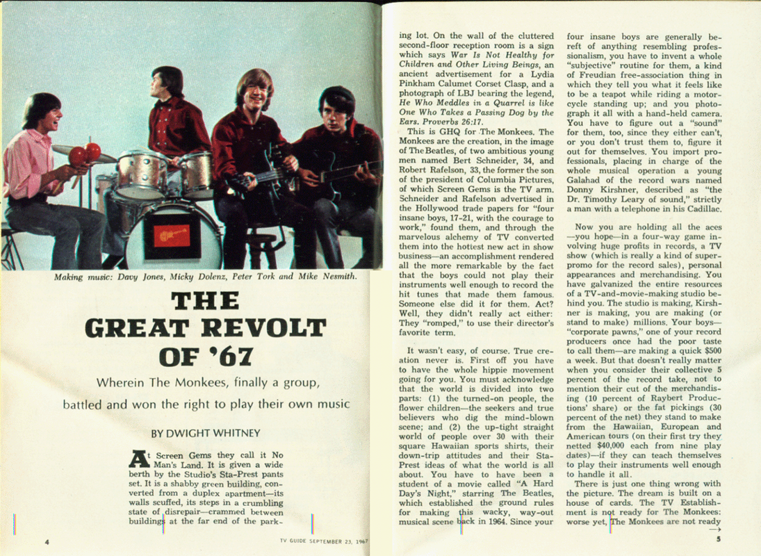 Monkees TV Guide 1967