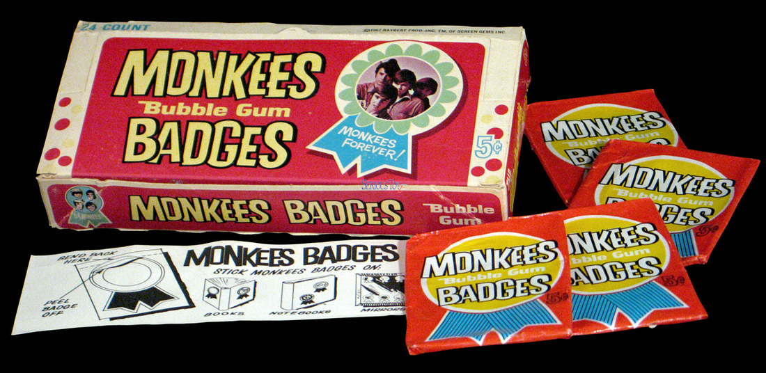 Monkees Donruss badges box