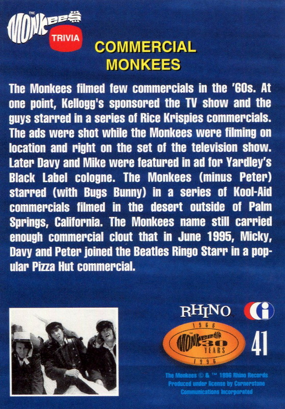 Monkees commercials