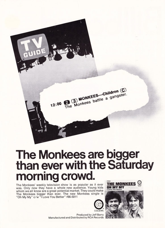 Monkees Saturday morning reruns TV Guide