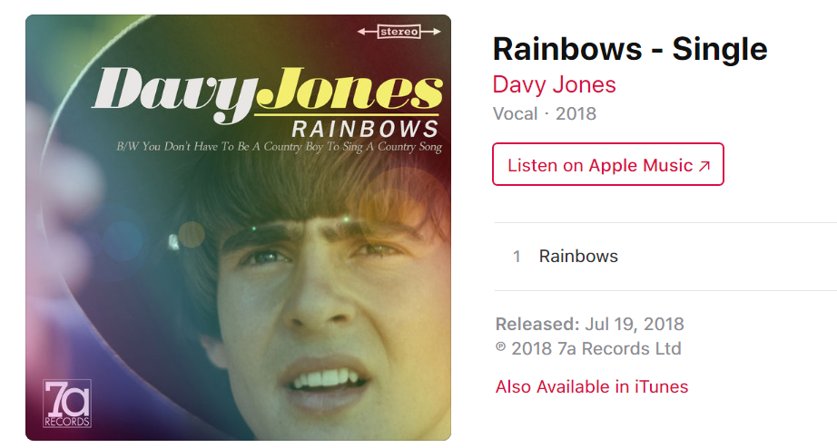 Davy Jones Rainbows