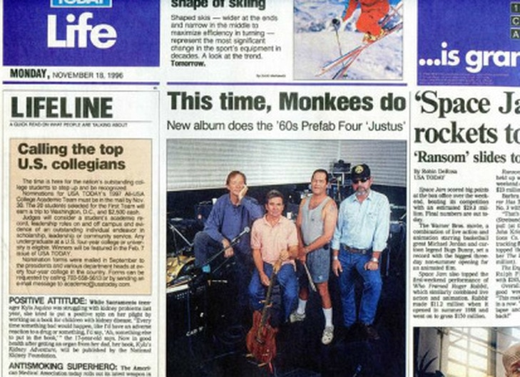 Monkees USA Today 1996