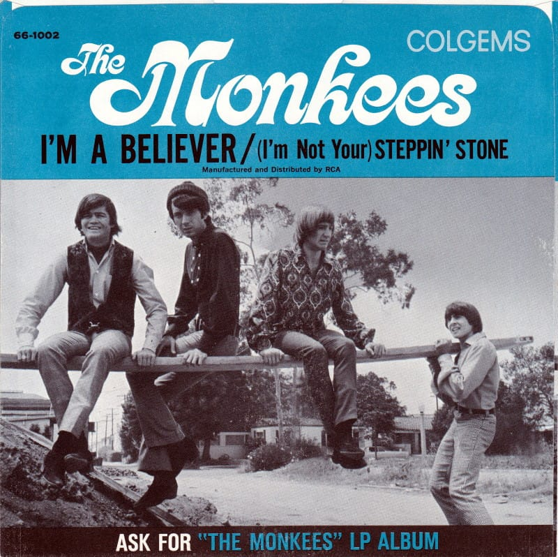 Monkees I'm a Believer picture sleeve