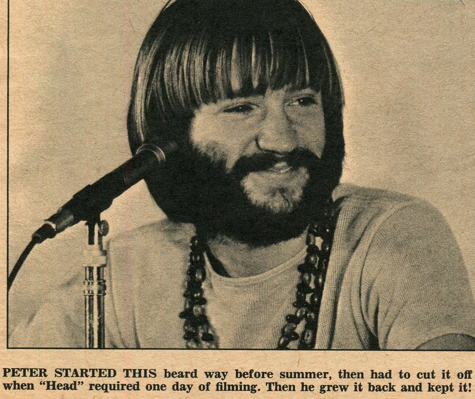 Peter Tork 1968 beard