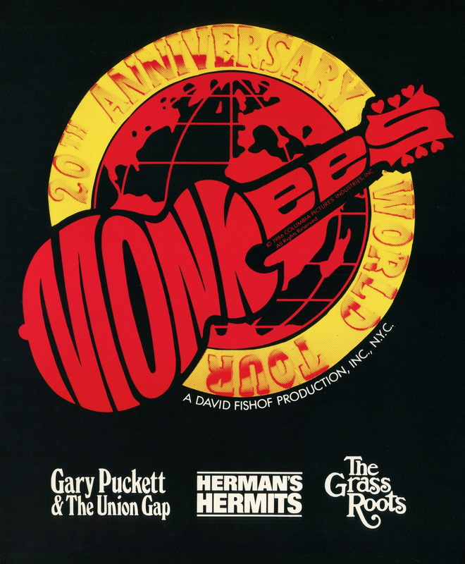 Monkees 1986 tour program book 20th Anniversary