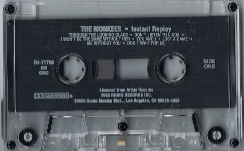 Instant Replay Monkees Rhino cassette