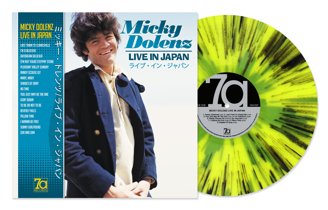 Micky Dolenz Live in Japan splatter vinyl