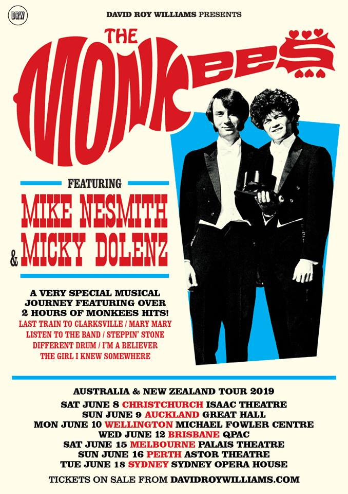 Mike & Micky Show Monkees Australia New Zealand 2019