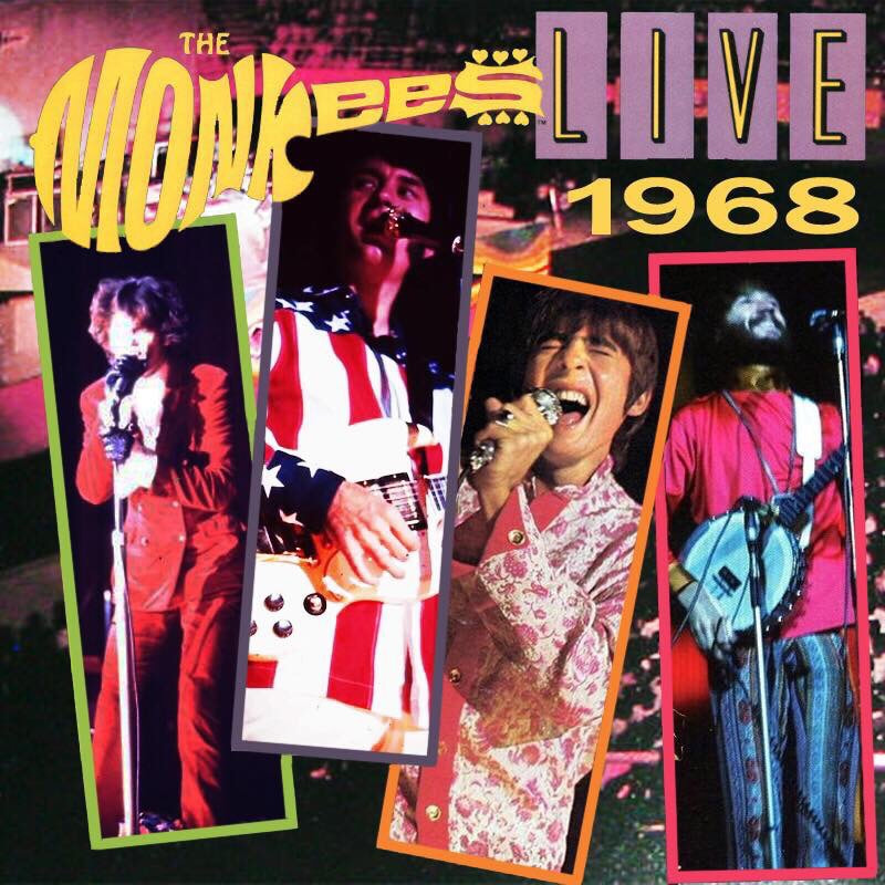 Monkees Live 1968 Fantasy Album Art