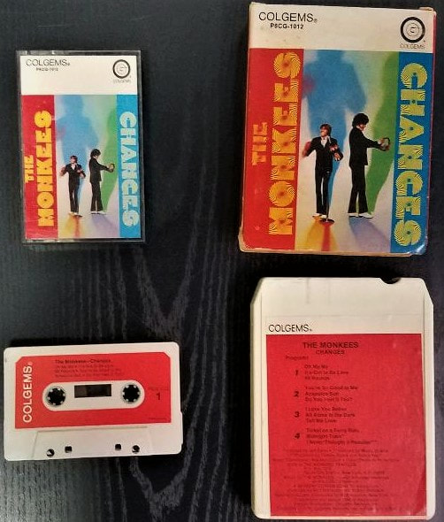 Monkees Changes cassette 8 track