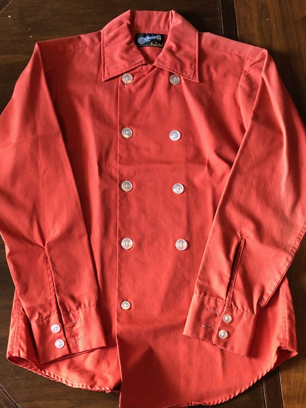 Monkees 8 button shirt Bruxton