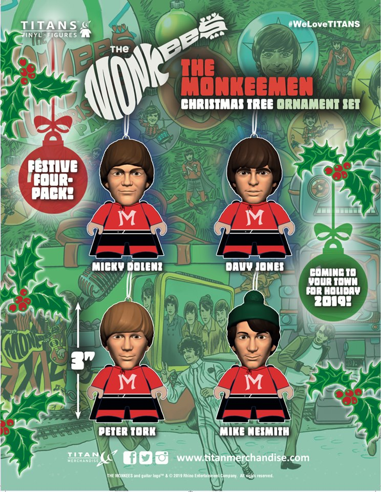 Monkees holiday ornaments