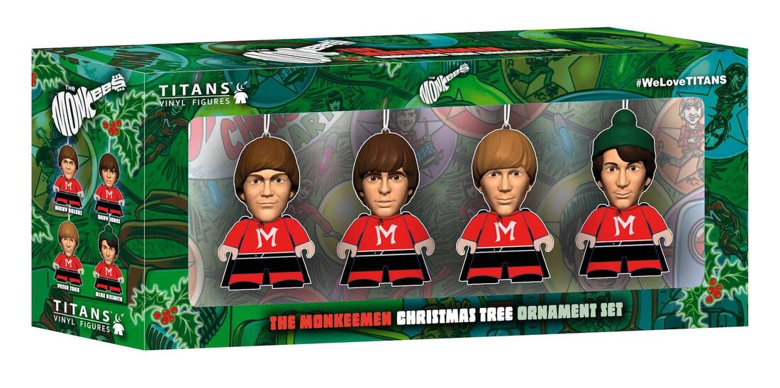 Titan Merchandise Monkees holiday ornaments Christmas Tree