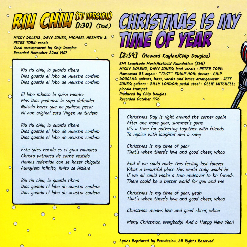 Monkees Riu Chiu Christmas Is My Time of Year