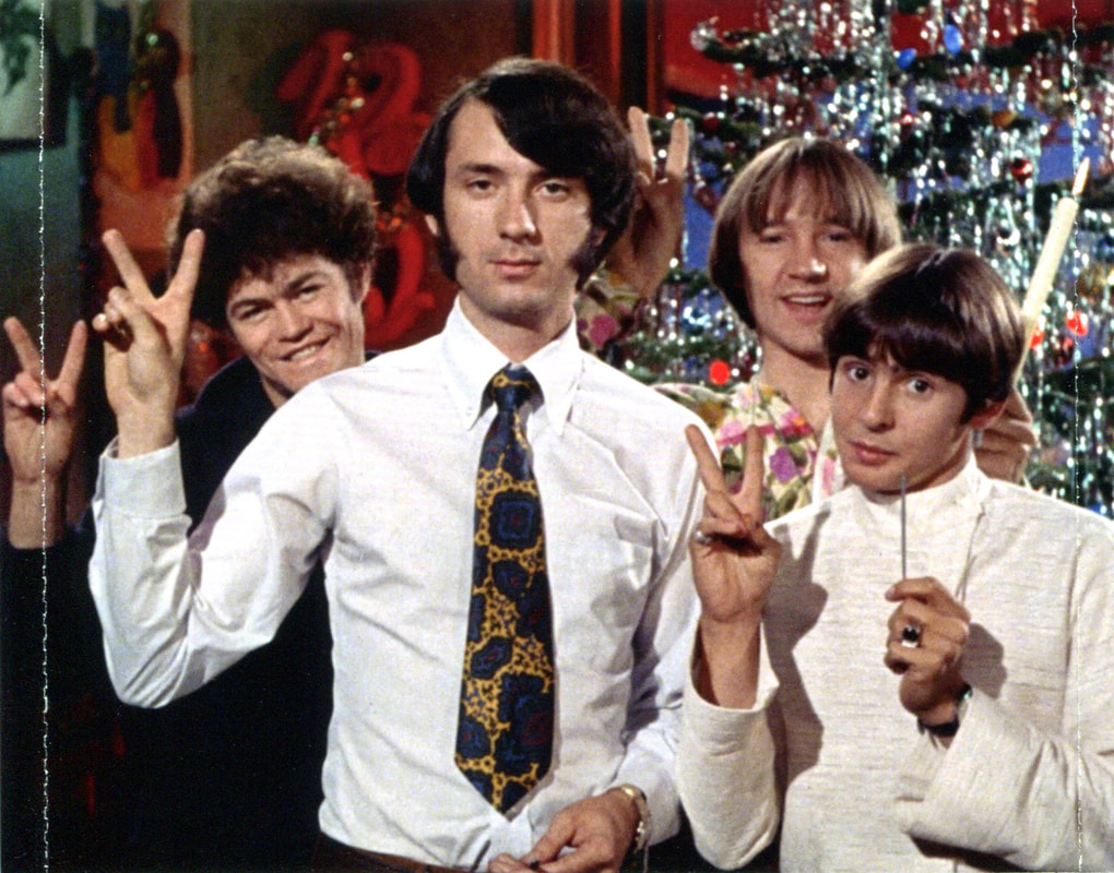 Monkees Christmas Party tray inlay