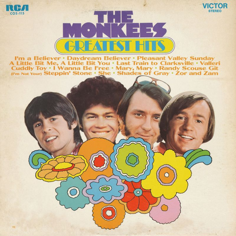Monkees Greatest Hits Canada album cover